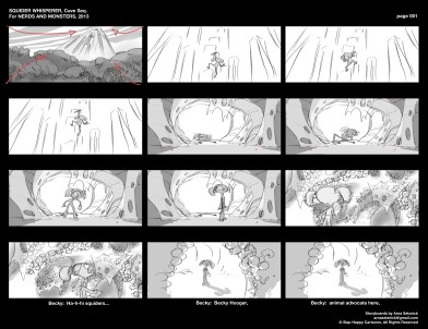 Squider Whisperer Storyboard Sample