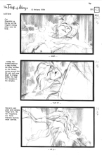 Storyboard by Arna Selznick for the unproduced feature film THE THIEF OF ALWAYS. From the book of the same name by Clive Barker.